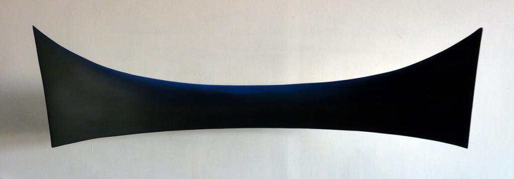 """Exosphere Meniscus (25 x 90 x 20"""" Panorama), 2008, mixed media on panel"""