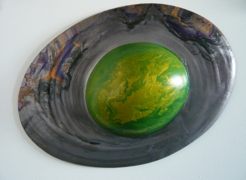 Untitled (Saturn), 2009, mixed media